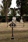 Σταυροί σιδήρου στο στρατιωτικό νεκροταφείο στοκ εικόνες