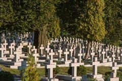 Σταυροί στο νεκροταφείο Στοκ εικόνα με δικαίωμα ελεύθερης χρήσης