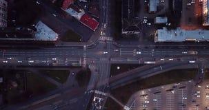 Σταυροδρόμια αργά το βράδυ απόθεμα βίντεο