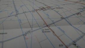 Σταυροδρόμια σε έναν χάρτη στοκ φωτογραφίες με δικαίωμα ελεύθερης χρήσης