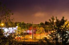 Σταυροδρόμια νύχτας Στοκ Φωτογραφία