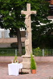 Σταυροδρόμια ο διαγώνιος Ιησούς Στοκ φωτογραφίες με δικαίωμα ελεύθερης χρήσης
