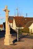 Σταυροδρόμια ο διαγώνιος Ιησούς Στοκ φωτογραφία με δικαίωμα ελεύθερης χρήσης