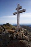 Σταυρός βουνών με τα βουνά κομματιών Στοκ Εικόνες