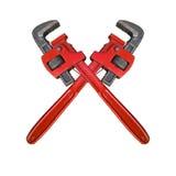 Σταυρός γαλλικών κλειδιών πιθήκων Στοκ φωτογραφία με δικαίωμα ελεύθερης χρήσης