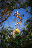 Σταυρός εκκλησιών στο θόλο Στοκ φωτογραφία με δικαίωμα ελεύθερης χρήσης