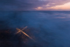 Σταυρός θύελλας υδρονέφωσης Στοκ φωτογραφία με δικαίωμα ελεύθερης χρήσης