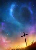 σταυρός και αστέρια Στοκ Φωτογραφία