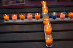 Σταυρός κεριών Στοκ φωτογραφία με δικαίωμα ελεύθερης χρήσης
