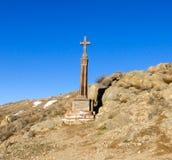 Σταυρός κοντά στο βουνό Ararat Στοκ εικόνα με δικαίωμα ελεύθερης χρήσης