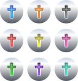 σταυρός κουμπιών Στοκ εικόνα με δικαίωμα ελεύθερης χρήσης