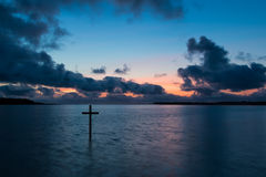Σταυρός κόλπων νερού Στοκ φωτογραφία με δικαίωμα ελεύθερης χρήσης