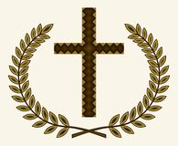 Σταυρός με τη δάφνη ελεύθερη απεικόνιση δικαιώματος
