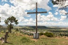Σταυρός με τις δέκα εντολές που χαράσσονται στον κύλινδρο γρανίτη, Fick Στοκ εικόνα με δικαίωμα ελεύθερης χρήσης