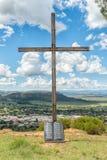 Σταυρός με τις δέκα εντολές που χαράσσονται στον κύλινδρο γρανίτη, Fick Στοκ Εικόνα