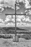Σταυρός με τις δέκα εντολές που χαράσσονται στον κύλινδρο γρανίτη, Fick Στοκ φωτογραφία με δικαίωμα ελεύθερης χρήσης