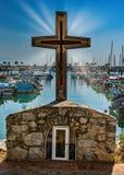 Σταυρός πέρα από την αλιεία του λιμενικού Λα Cruz Huanacaxtle Μεξικό στοκ εικόνα