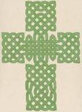 Σταυρός που χρωματίζεται κελτικός Στοκ εικόνες με δικαίωμα ελεύθερης χρήσης