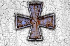 Σταυρός σε μια σκουριά metall Στοκ Εικόνα
