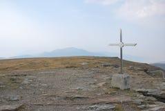 Σταυρός σε Kajmakcalan Στοκ Φωτογραφία