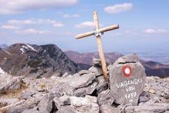 Σταυρός σε Velebit Στοκ φωτογραφίες με δικαίωμα ελεύθερης χρήσης