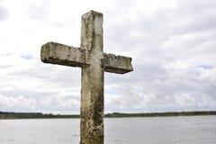 Σταυρός στην παραλία Στοκ Φωτογραφίες