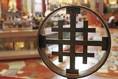 Σταυρός στη βασιλική Annunciation, Ναζαρέτ, Ισραήλ Στοκ εικόνες με δικαίωμα ελεύθερης χρήσης