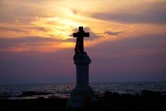 Σταυρός στη στάση Στοκ φωτογραφία με δικαίωμα ελεύθερης χρήσης