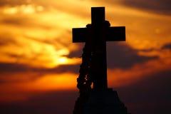 Σταυρός στη στάση Στοκ Φωτογραφίες