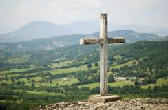Σταυρός στο βουνό Στοκ Εικόνες