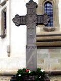 Σταυρός στο μοναστήρι Putna, Suceava Στοκ εικόνες με δικαίωμα ελεύθερης χρήσης