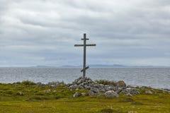 Σταυρός στο νησί, νησιά Solovetsky (Solovki) Στοκ εικόνα με δικαίωμα ελεύθερης χρήσης
