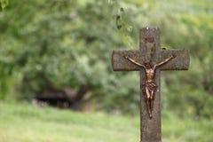 Σταυρός στο wurmlinger chapell Στοκ Φωτογραφίες