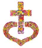 Σταυρός του Ιησούς Χριστού στην καρδιά μου απεικόνιση αποθεμάτων