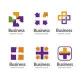 Σταυρός υγείας συν το ιατρικό λογότυπο μεριδίου Στοκ Φωτογραφίες