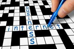 Σταυρόλεξο - επιχείρηση και Διαδίκτυο Στοκ Εικόνες