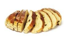 σταφίδα ψωμιού που τεμαχί&ze Στοκ Φωτογραφία