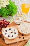 Σταφίδες & muffin τυριών κρέμας Στοκ Εικόνα