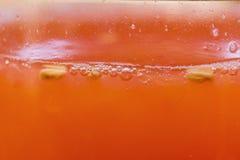 Σταφυλιών μακρο, υγιής διατροφή κινηματογραφήσεων σε πρώτο πλάνο χυμού φρούτων φρέσκια Στοκ Φωτογραφία