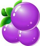 Σταφύλι - στοιχεία φρούτων για την αντιστοιχία 3 παιχνίδια ελεύθερη απεικόνιση δικαιώματος