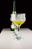 Σταφύλια και γυαλιά κρασιού Στοκ Εικόνες