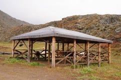 Σταύλος αγελάδων κοντά στην kalbak-Tash, Ρωσία στοκ εικόνες με δικαίωμα ελεύθερης χρήσης