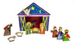 Σταύλος Χριστουγέννων Στοκ Εικόνες