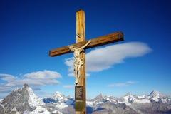 Σταύρωση στον παράδεισο παγετώνων matterhorn κοντά στην αιχμή Matterhorn, Ελβετία Στοκ Φωτογραφία