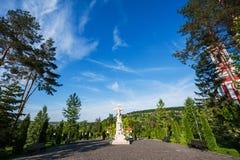 Σταύρωση του αγάλματος του Ιησού στη θέση κυβόλινθων Στοκ φωτογραφία με δικαίωμα ελεύθερης χρήσης