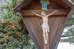 Σταύρωση του Ιησού της Ναζαρέτ, ο βασιλιάς των Εβραίων Στοκ φωτογραφία με δικαίωμα ελεύθερης χρήσης