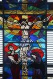 Σταύρωση, Virgin Mary και Άγιος John κάτω από το σταυρό Στοκ Εικόνα