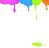 Σταλαγματιές του χρώματος διανυσματική απεικόνιση