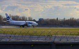 Στα αεροσκάφη απογείωσης Στοκ Φωτογραφίες