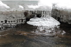 Σταλακτίτες πάγου, σλοβάκικο εθνικό πάρκο παραδείσου, Σλοβακία Στοκ φωτογραφία με δικαίωμα ελεύθερης χρήσης